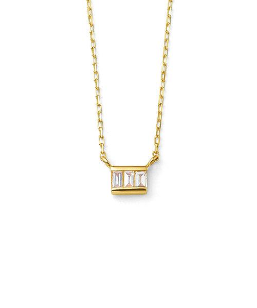 K10 イエローゴールド ダイヤモンド ネックレス