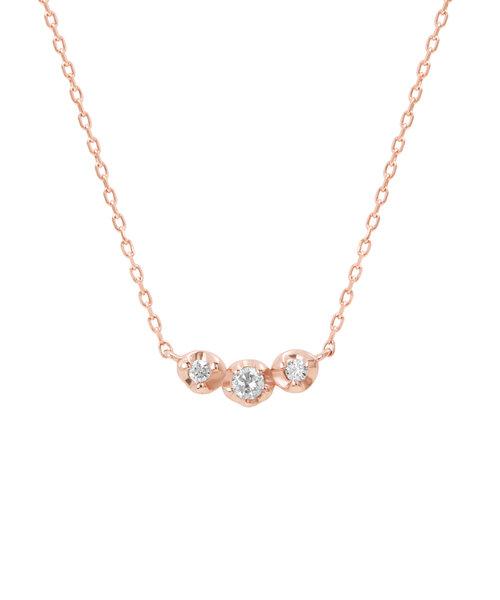 K10 ピンクゴールド ダイヤモンド ネックレス