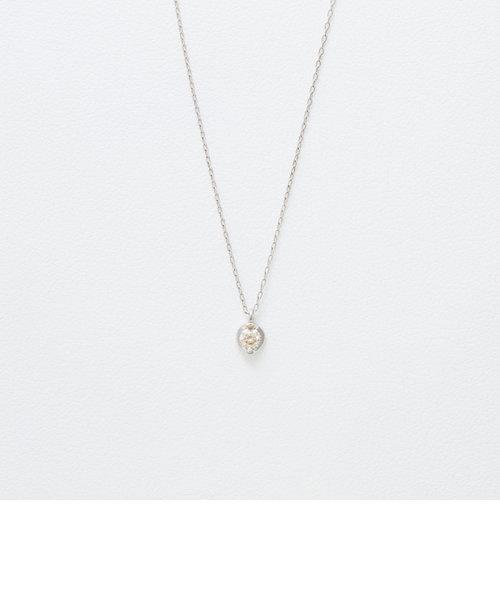 K10 ホワイトゴールド ダイヤモンド ネックレス
