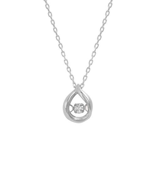 K10 ホワイトゴールド ダイヤモンド しずく ネックレス