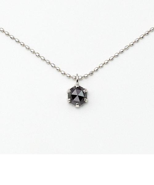 K10 ホワイトゴールド ブラックダイヤモンド ネックレス