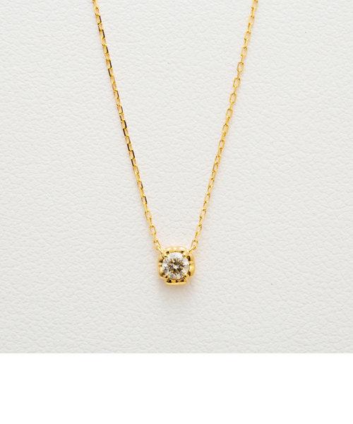 【WEB限定商品】K18 イエローゴールド ダイヤモンド ネックレス(0.06ct)