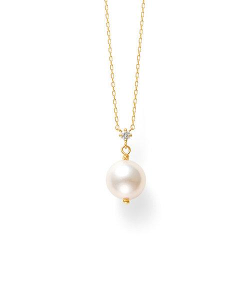 【インスタで話題!】6月誕生石 K18 イエローゴールド あこや真珠 ネックレス