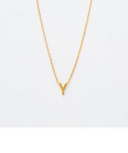 K18 イエローゴールド イニシャル ネックレス(Y)