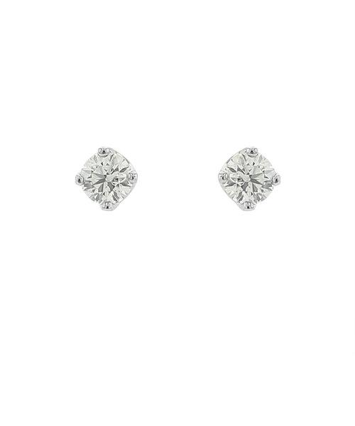 プラチナ ダイヤモンド ピアス(0.1ct)<鑑別カード/スコープ付>
