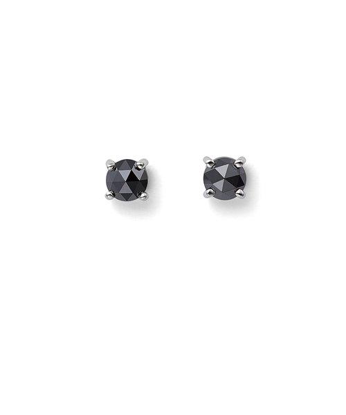 プラチナ ブラックダイヤモンド ピアス(0.2ct)
