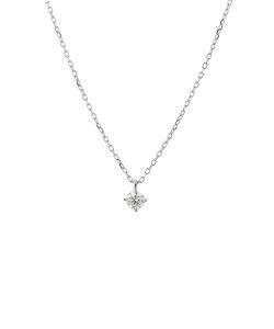 プラチナ ダイヤモンド ネックレス(0.1ct)<鑑別カード/スコープ付>