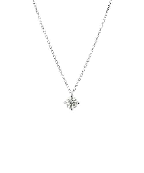 プラチナ ダイヤモンド ネックレス(0.25ct)<鑑別カード/スコープ付>