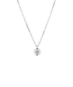 プラチナ ダイヤモンド ネックレス(0.2ct)<鑑別カード/スコープ付>