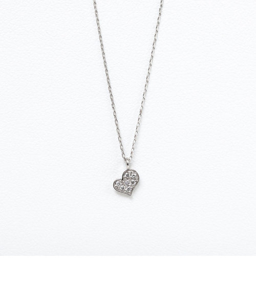 プラチナ ダイヤモンド ハート ネックレス