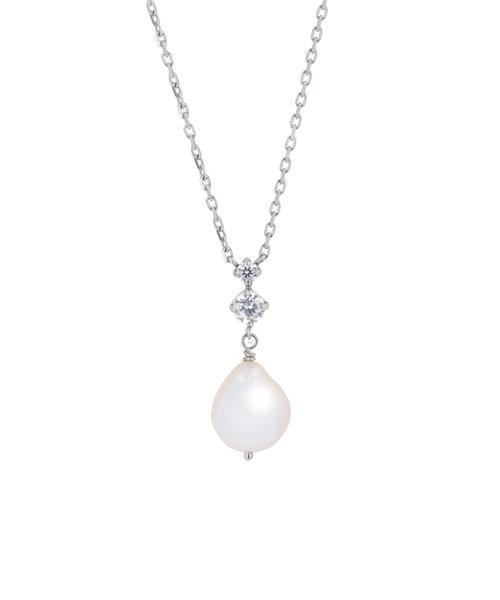 【WEB限定商品】6月誕生石 シルバー ロジウムメッキ あこや真珠 ネックレス(7.0-7.5mm)