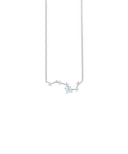 【WEB限定商品】11月誕生石 シルバー ロジウムメッキ トパーズ 北斗七星 ネックレス