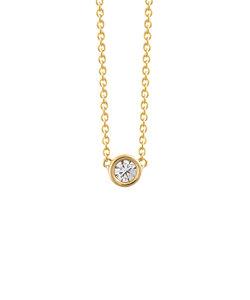 【WEB限定】K18 イエローゴールド ダイヤモンド ネックレス(0.12ct)