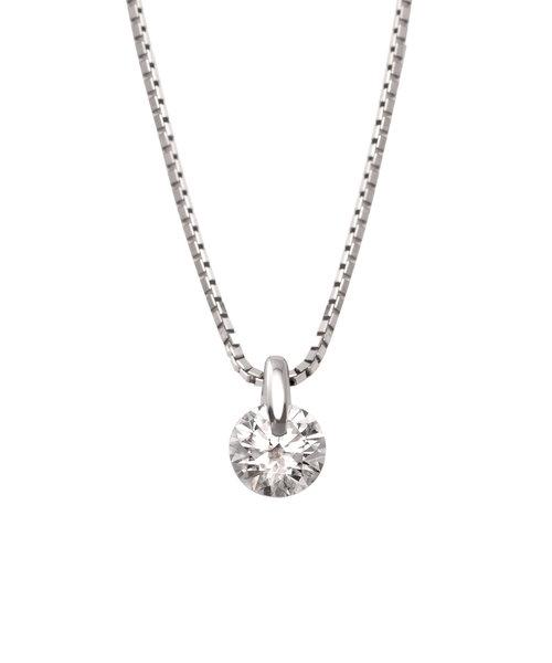 プラチナ ダイヤモンド ネックレス(0.30ct)<鑑定書付>