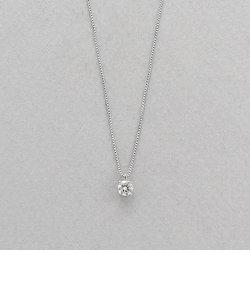 【&mall限定】プラチナ ダイヤモンド ネックレス(0.20ct)