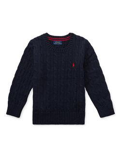 ケーブルニット コットン セーター