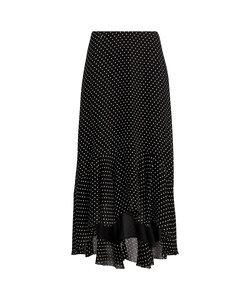 ポルカドット ハイロー スカート