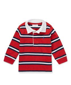 (ベビー)ストライプド コットン ジャージー ラグビーシャツ