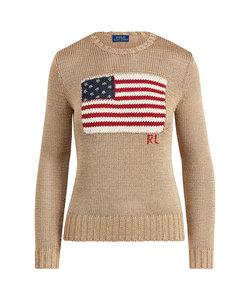フラッグ メタリック コットン セーター
