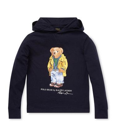 924422223dc (ボーイズ 8才~20才)Polo ベア フーデッド Tシャツ