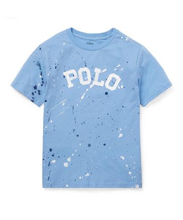 2f9751954ab (ボーイズ 8才~20才)ペイントスプラッター コットン Tシャツ