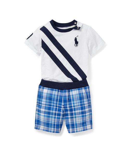 (ベビー)Tシャツ & リバーシブル ショートパンツセット