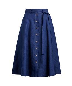 リネン A ライン スカート