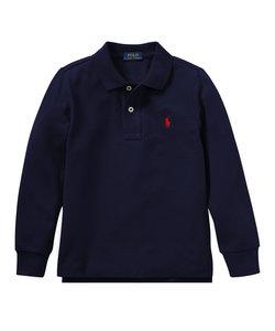 (ボーイズ 5才~7才)コットン メッシュ ロングスリーブ ポロシャツ