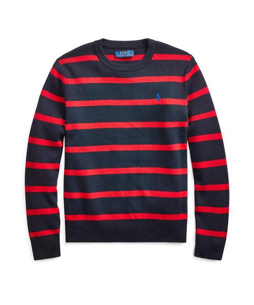 (ボーイズ 8才~20才)ストライプド コットン セーター