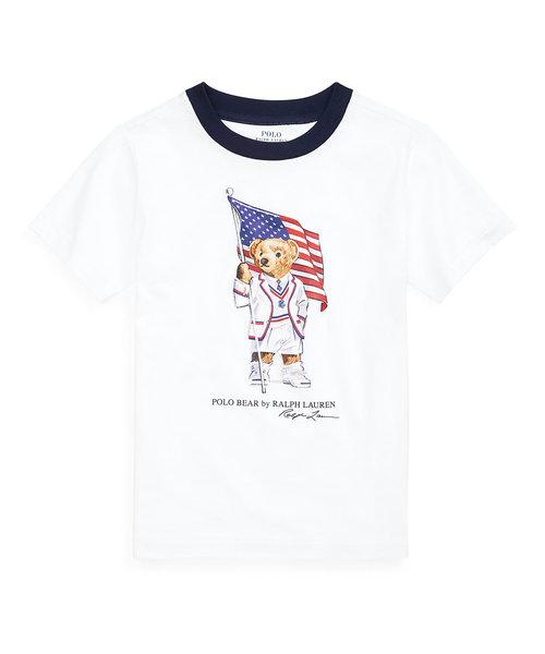 (ボーイズ 2才~4才)フラッグ ベア コットン ジャージー Tシャツ