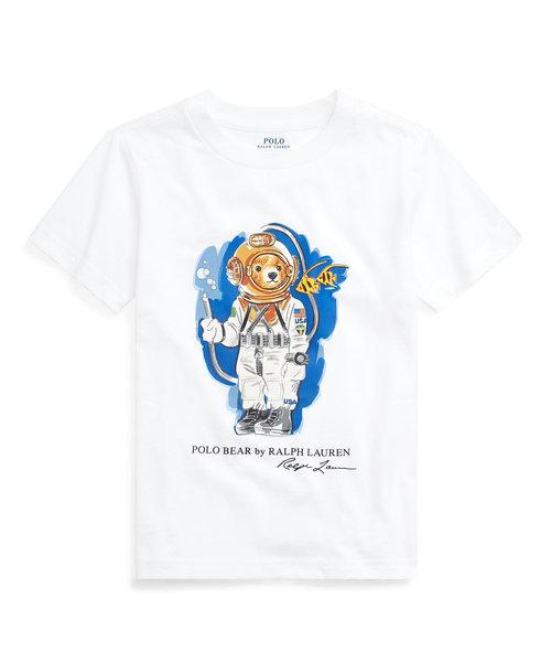 (ボーイズ 5才~7才)ダイビング ベア コットン ジャージー Tシャツ