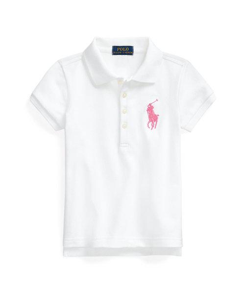 (ガールズ 5才~6才)Big Pony ストレッチ メッシュ ポロシャツ
