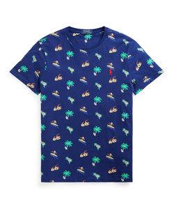 カスタム スリムフィット トロピカル ジャージー Tシャツ
