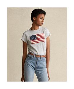フラッグ コットン ジャージー Tシャツ