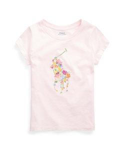(ガールズ 7才~16才)フローラルポニー コットン ジャージー Tシャツ
