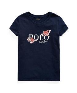 (ガールズ 7才~16才)ロゴ コットン ジャージー Tシャツ