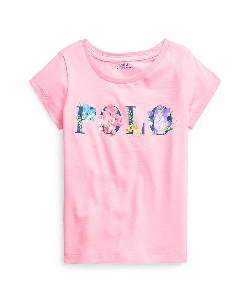 (ガールズ 2才~4才)フローラルロゴ コットン ジャージー Tシャツ