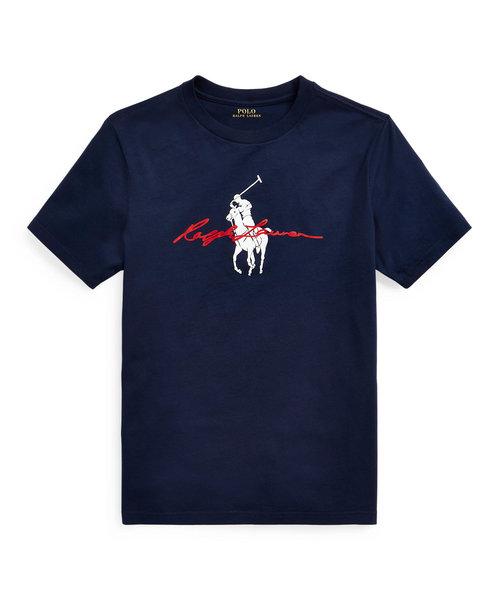 (ボーイズ 8才~20才)Big Pony ロゴ コットン ジャージー Tシャツ