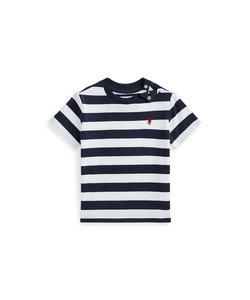 (ベビー)ストライプド コットン ジャージー Tシャツ
