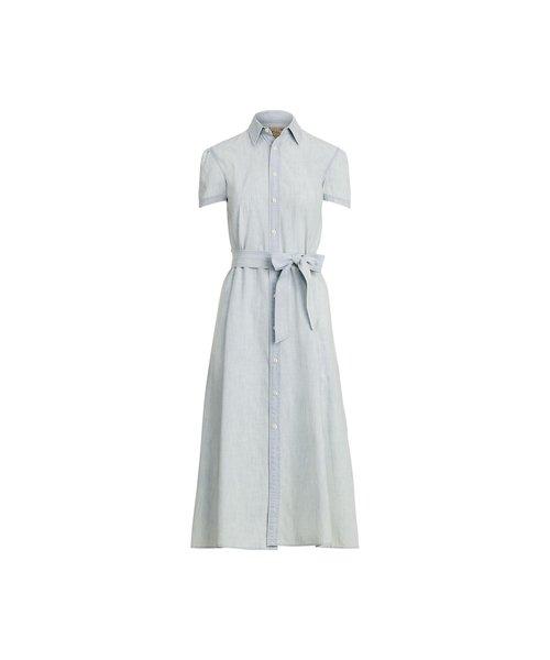 コットン シャンブレー シャツドレス