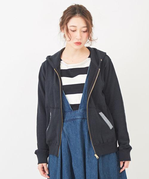 CUBE SUGAR 30/10裏毛ジップパーカー