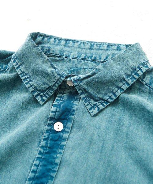 インド綿ボイル アシッド加工 ビッグシャツ