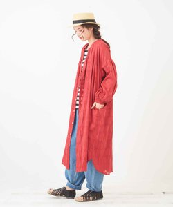 インドドビー 大花柄 羽織りワンピース