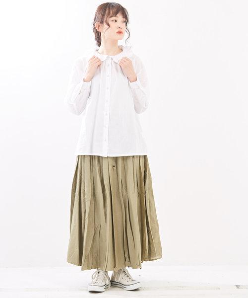 WEB限定 コットンボイル リバーシブルスカート