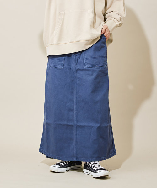 カツラギ ビンテージ加工 Aライン ベーカースカート