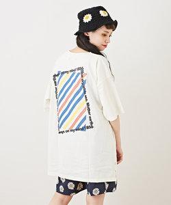 OE天竺 バックプリント ビッグTシャツ