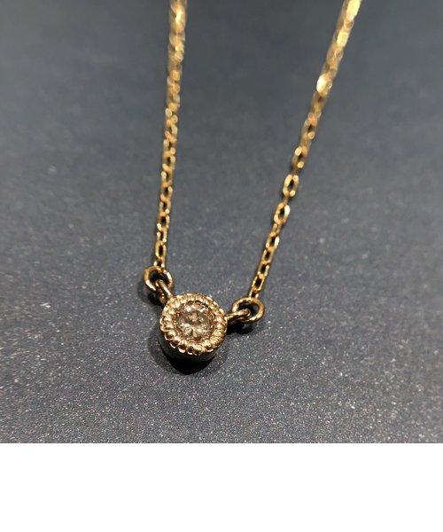 K10YGダイヤモンドネックレス