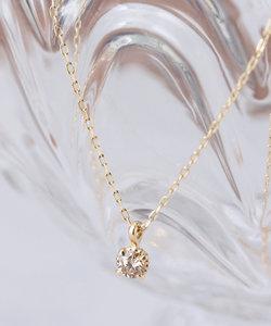 K10 一粒ダイヤモンド(0.06ct) ネックレス