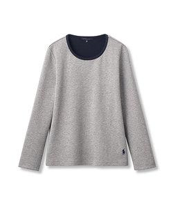 ダブルフェイス パジャマ長袖Tシャツ M