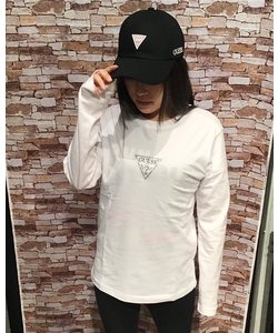 GUESS ラインストーンロンTEE